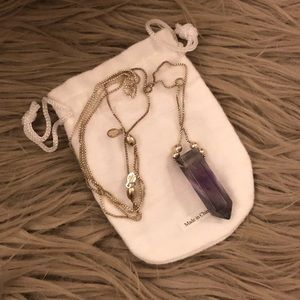 Alex and Ani Amethyst Necklace